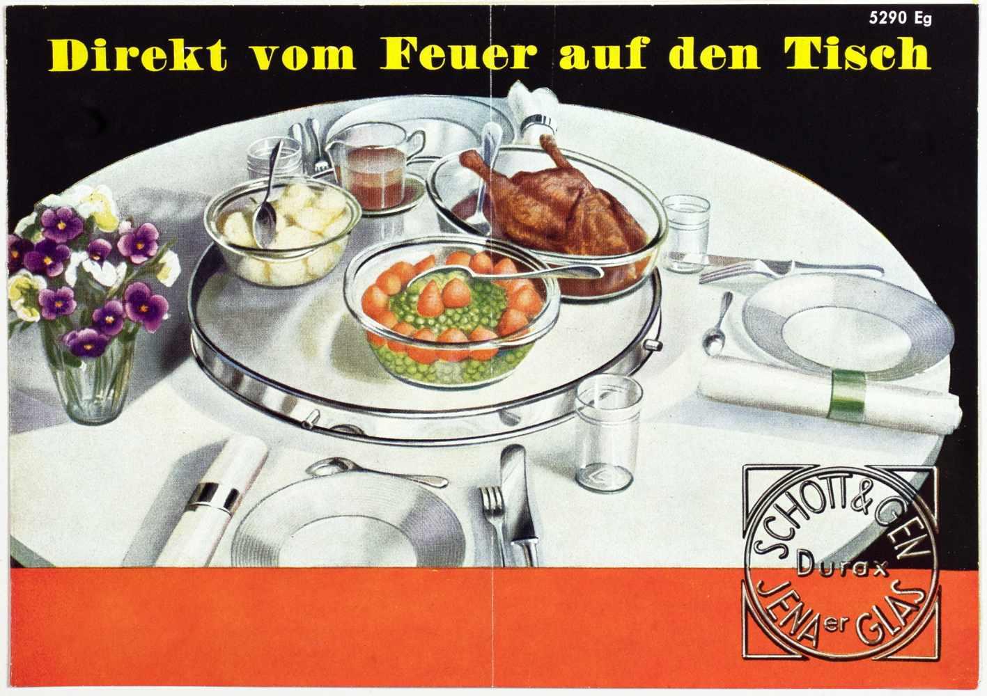 Laszlo Moholy-Nagy - Fünf Werbebroschüren und -flyer für das Jenaer Glaswerk Schott & Gen. Jena um - Image 2 of 5