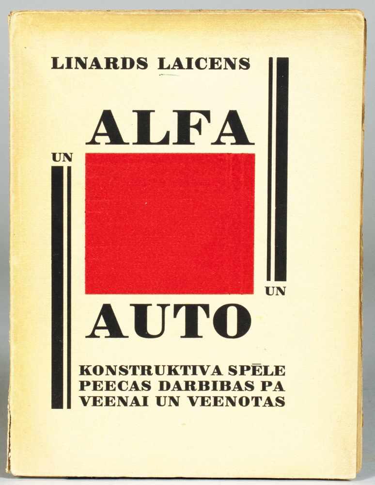 Linards Laicens. Alfa un auto. Konstruktiva spele (lettisch: Alfa und Auto. Konstruktivistische