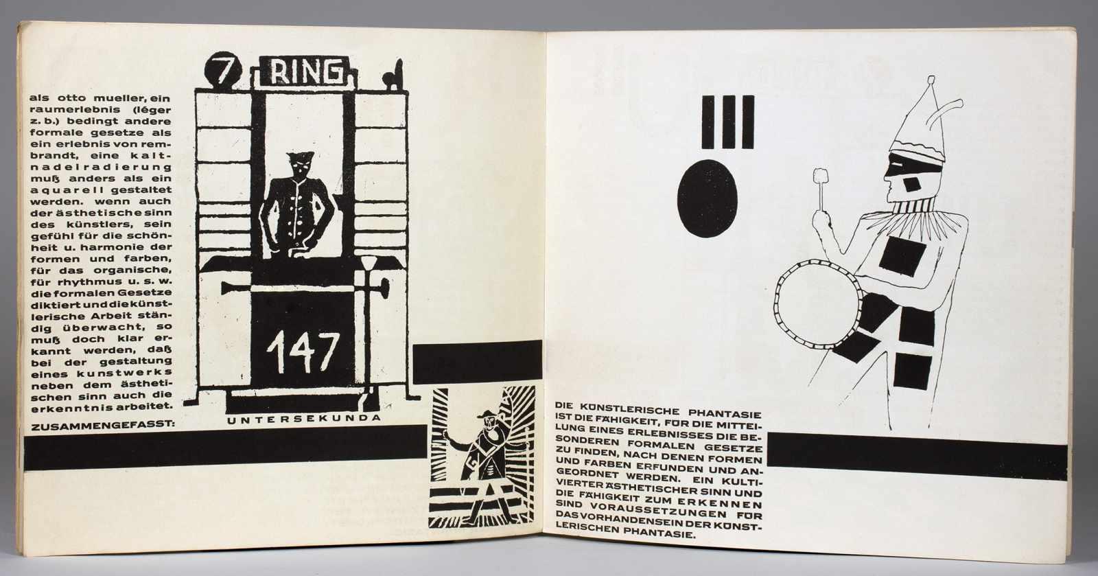 Johannes Molzahn - Gestaltung, Gestaltung. Zur schlesischen Arbeitsgemeinschaft für Zeichen- u. - Image 3 of 4