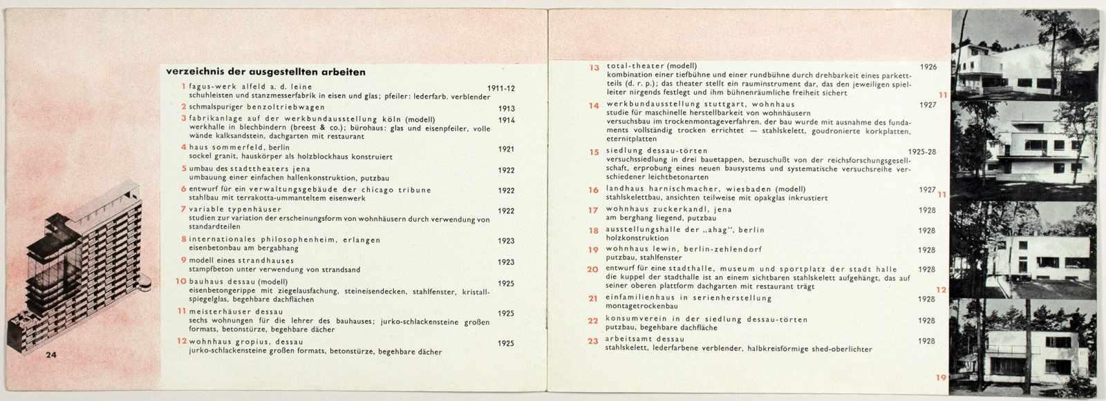 Laszlo Moholy-Nagy - Ausstellung Walter Gropius. Zeichnungen, Fotos, Modelle in der ständigen - Image 3 of 8