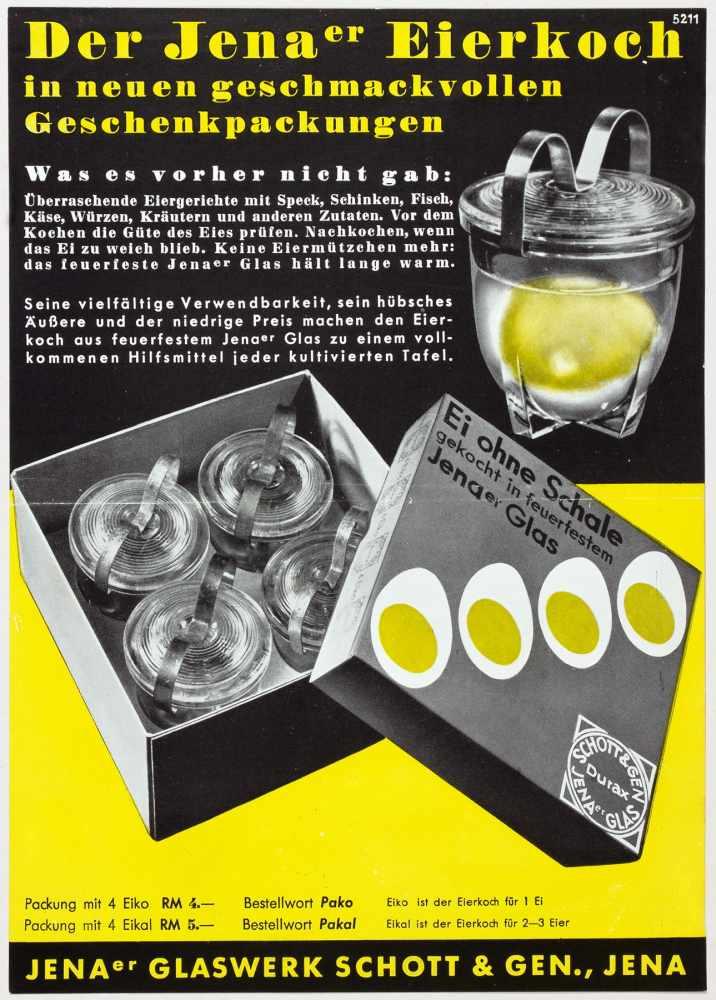 Laszlo Moholy-Nagy - Fünf Werbebroschüren und -flyer für das Jenaer Glaswerk Schott & Gen. Jena um - Image 3 of 5
