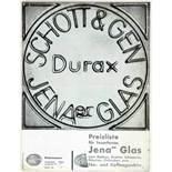 Laszlo Moholy-Nagy - Drei Werbebroschüren und -flyer für das Jenaer Glaswerk Schott & Gen. Jena um