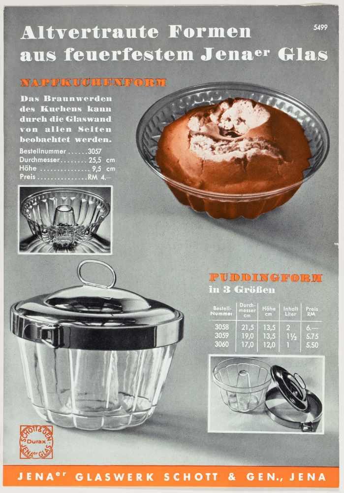 Laszlo Moholy-Nagy - Fünf Werbebroschüren und -flyer für das Jenaer Glaswerk Schott & Gen. Jena um