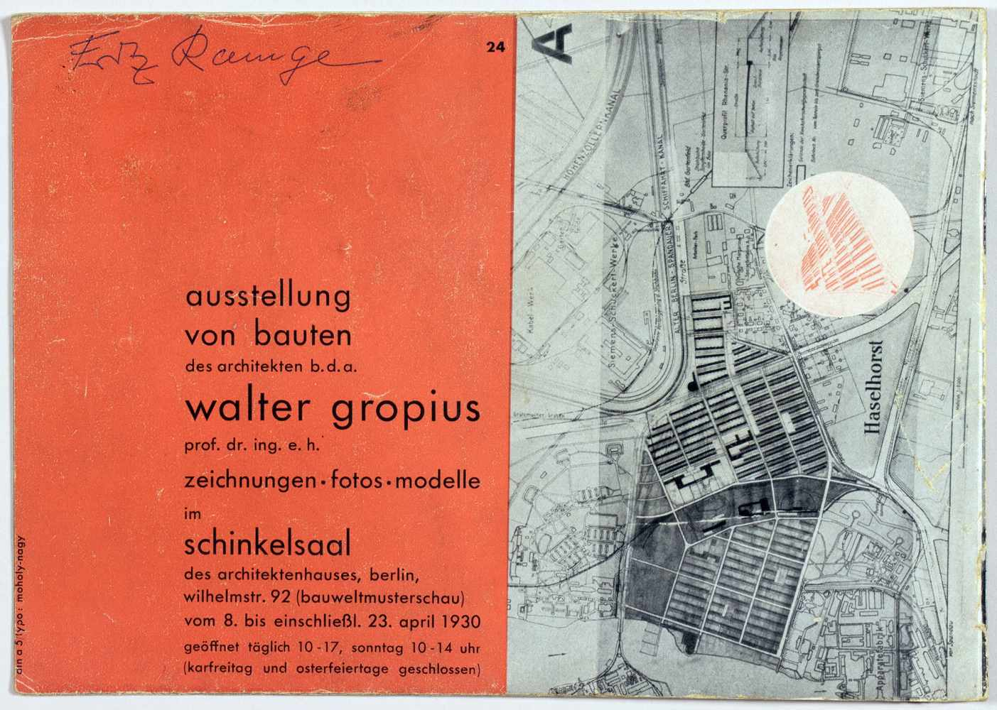 Laszlo Moholy-Nagy - Ausstellung Walter Gropius. Zeichnungen, Fotos, Modelle in der ständigen - Image 8 of 8