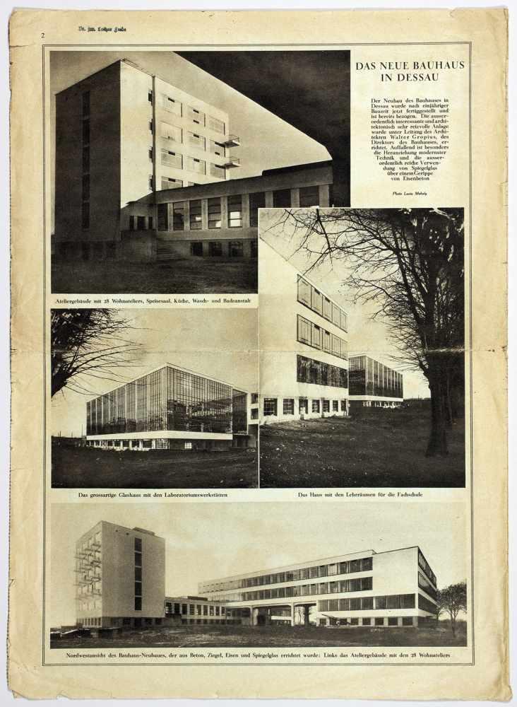 Bauhaus - Pressestimmen zur bevorstehenden Schließung des Bauhauses Weimar. Fünf - Image 6 of 6