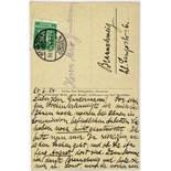 Kurt Schwitters. Eigenhändige Merzbild-Postkarte mit Unterschrift. Hannover, 25. 6. 1924. Beidseitig