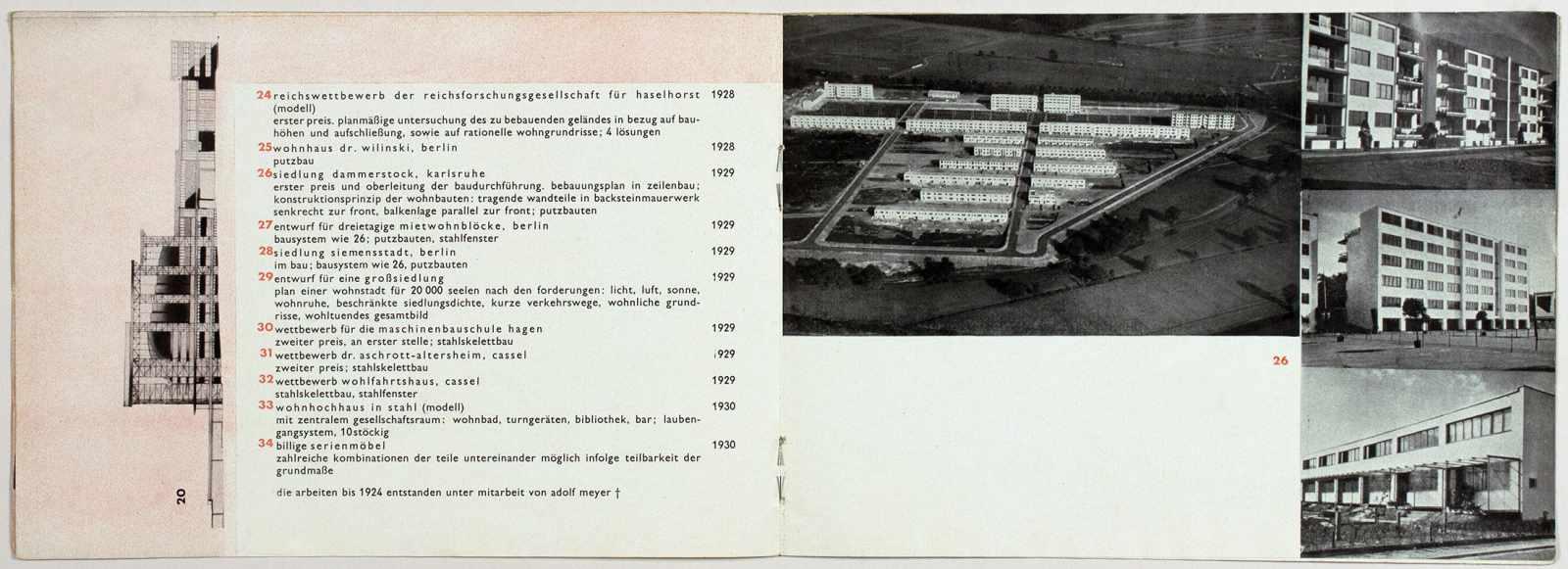 Laszlo Moholy-Nagy - Ausstellung Walter Gropius. Zeichnungen, Fotos, Modelle in der ständigen - Image 4 of 8