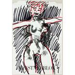 Al Hansen. Venus, Fünf Zeichnungen (Bleistift, schwarzer und farbige Faserschreiber). 1994. 21,0 :