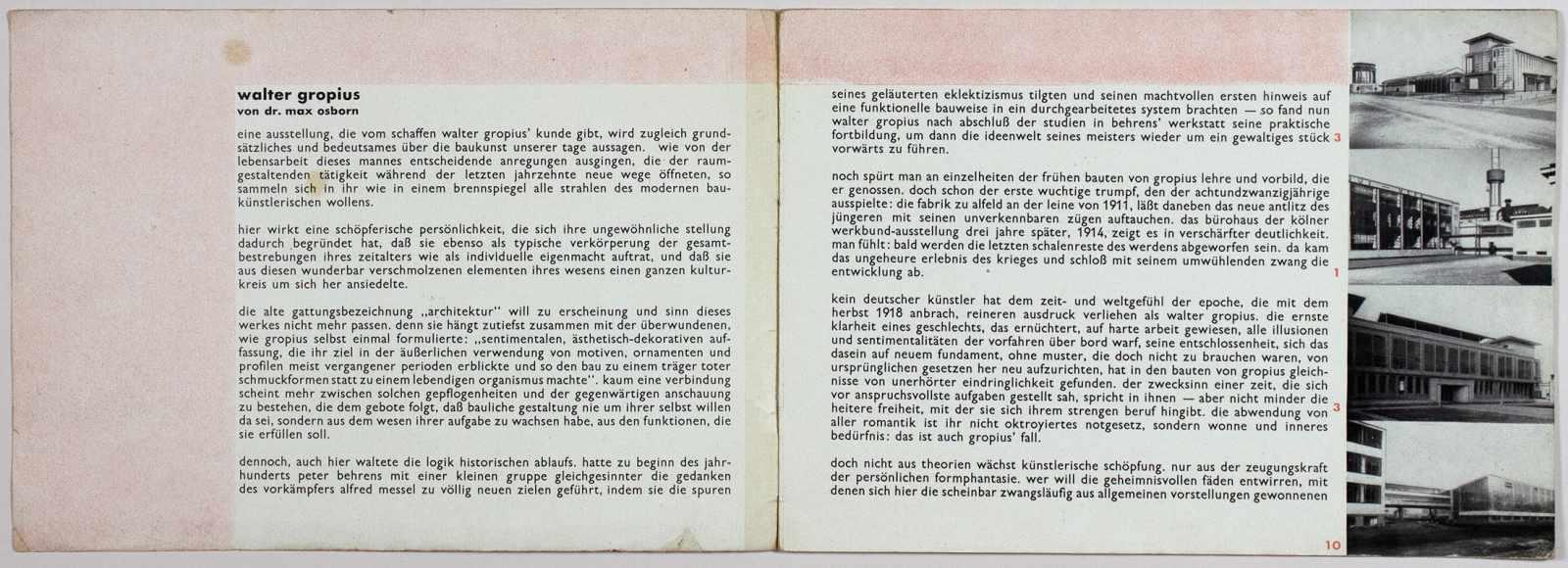 Laszlo Moholy-Nagy - Ausstellung Walter Gropius. Zeichnungen, Fotos, Modelle in der ständigen - Image 2 of 8