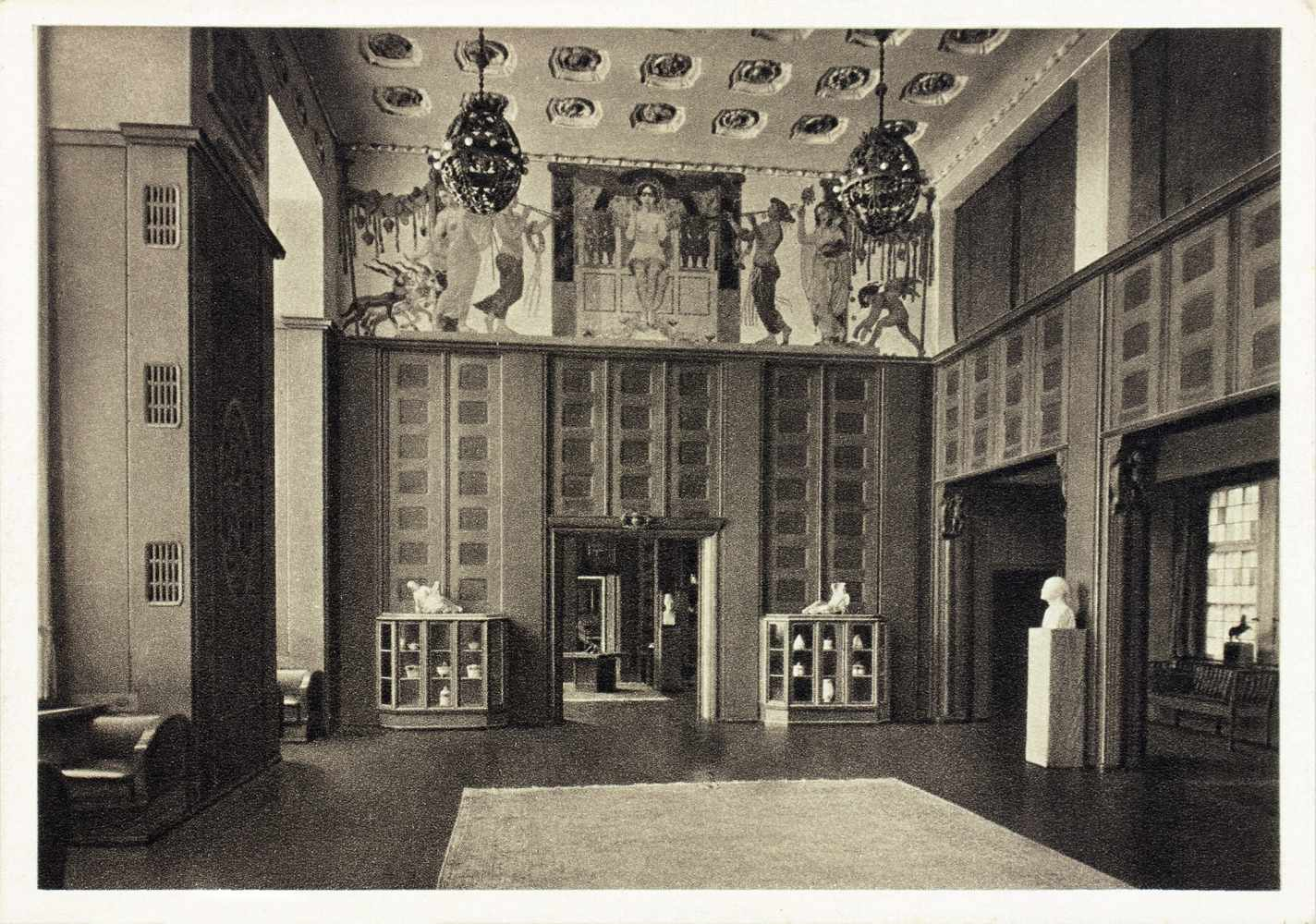 Kurt Schwitters - H. Bahlsens Keks-Farbik Hannover. Drei Werbepostkarten. Um 1929. 10,5 : 14,8 cm. - Image 3 of 4