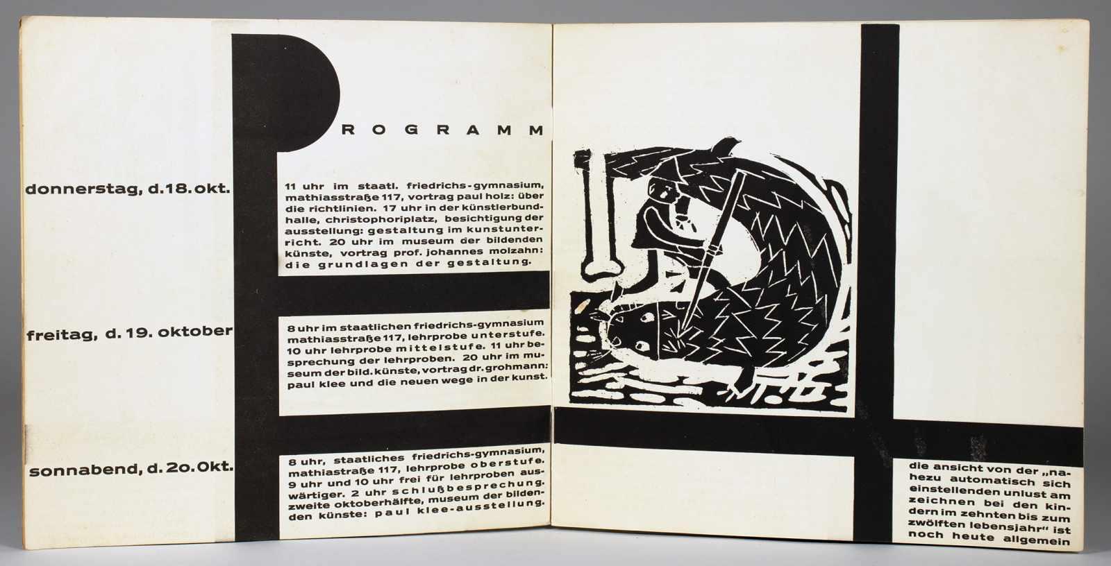 Johannes Molzahn - Gestaltung, Gestaltung. Zur schlesischen Arbeitsgemeinschaft für Zeichen- u. - Image 2 of 4