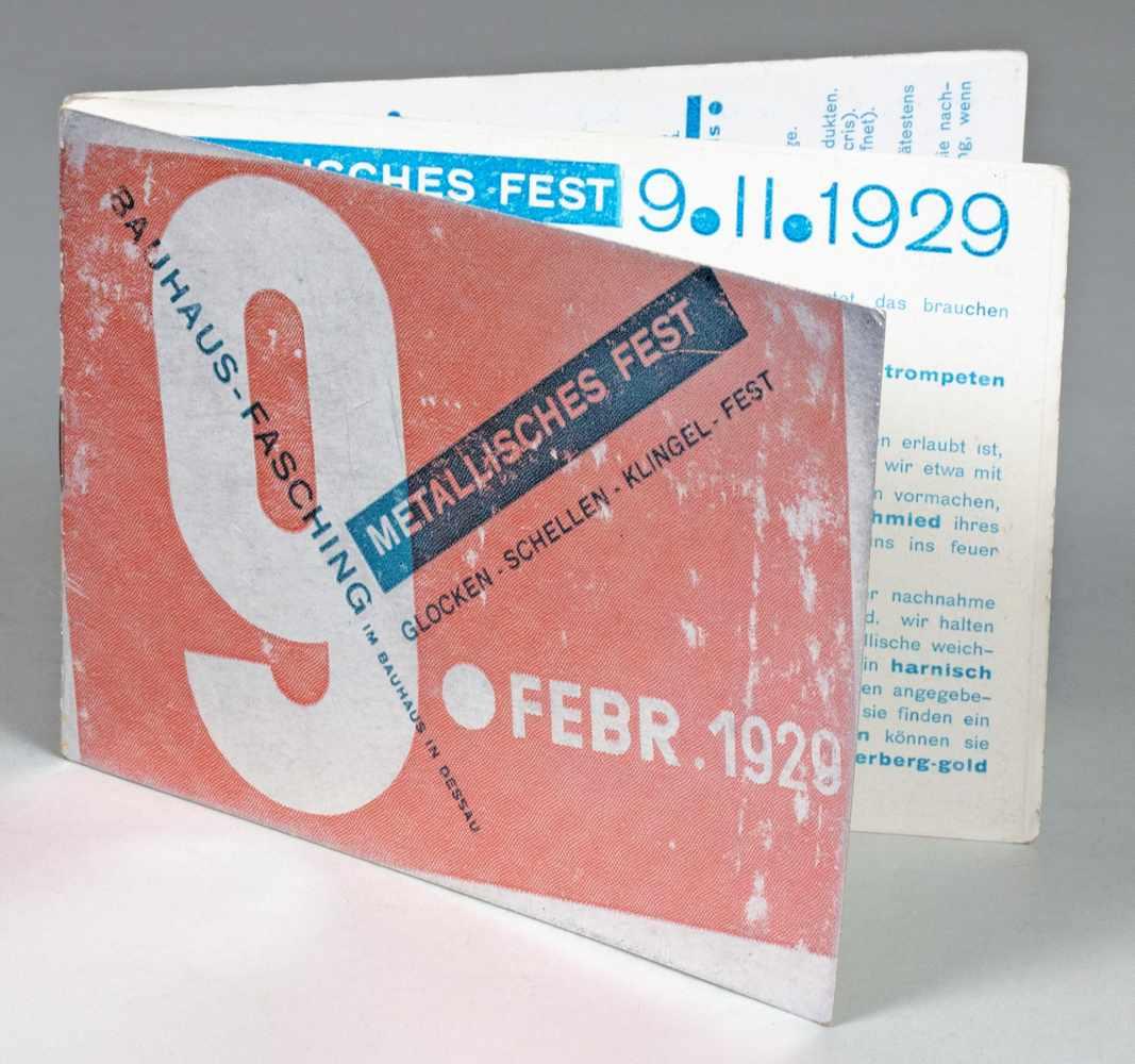 Bauhaus - Metallisches Fest. Glocken - Schellen - Klingel - Fest. Bauhaus-Fasching 9. Febr. 1929.