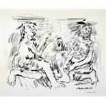 Oskar Kokoschka. Die Macht der Musik (Morgen und Abend). Lithographie. 1966. 46,1 : 57,8 cm (57 : 80