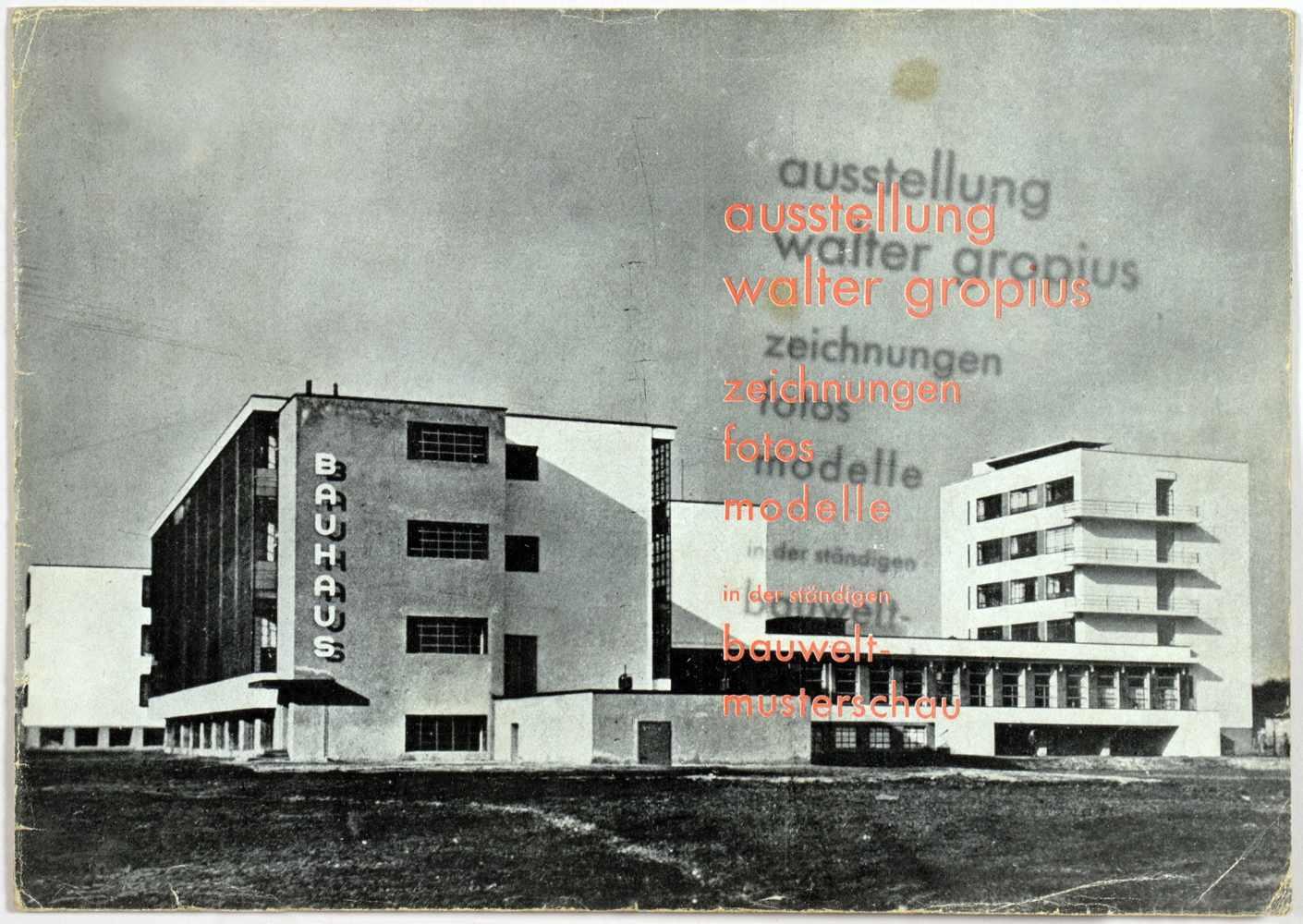 Laszlo Moholy-Nagy - Ausstellung Walter Gropius. Zeichnungen, Fotos, Modelle in der ständigen