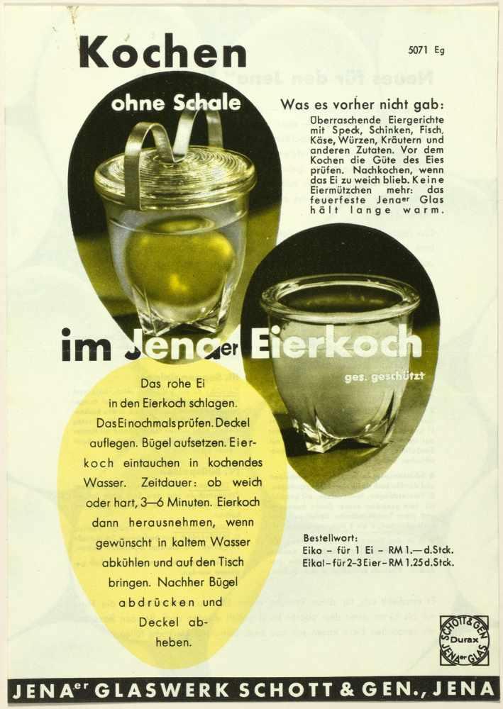 Laszlo Moholy-Nagy - Fünf Werbebroschüren und -flyer für das Jenaer Glaswerk Schott & Gen. Jena um - Image 4 of 5