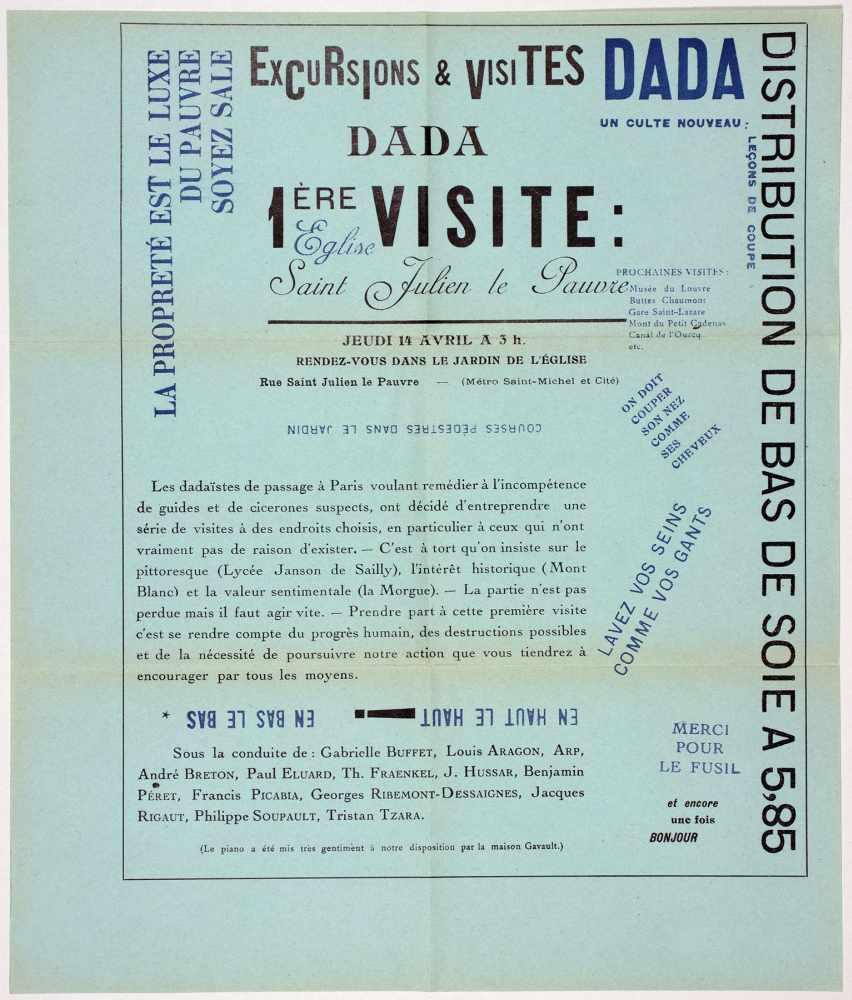 Dada - Excursions & visites Dada. 1ère visite: Eglise Saint Julien le Pauvre. Jeudi 14 Avril a 3