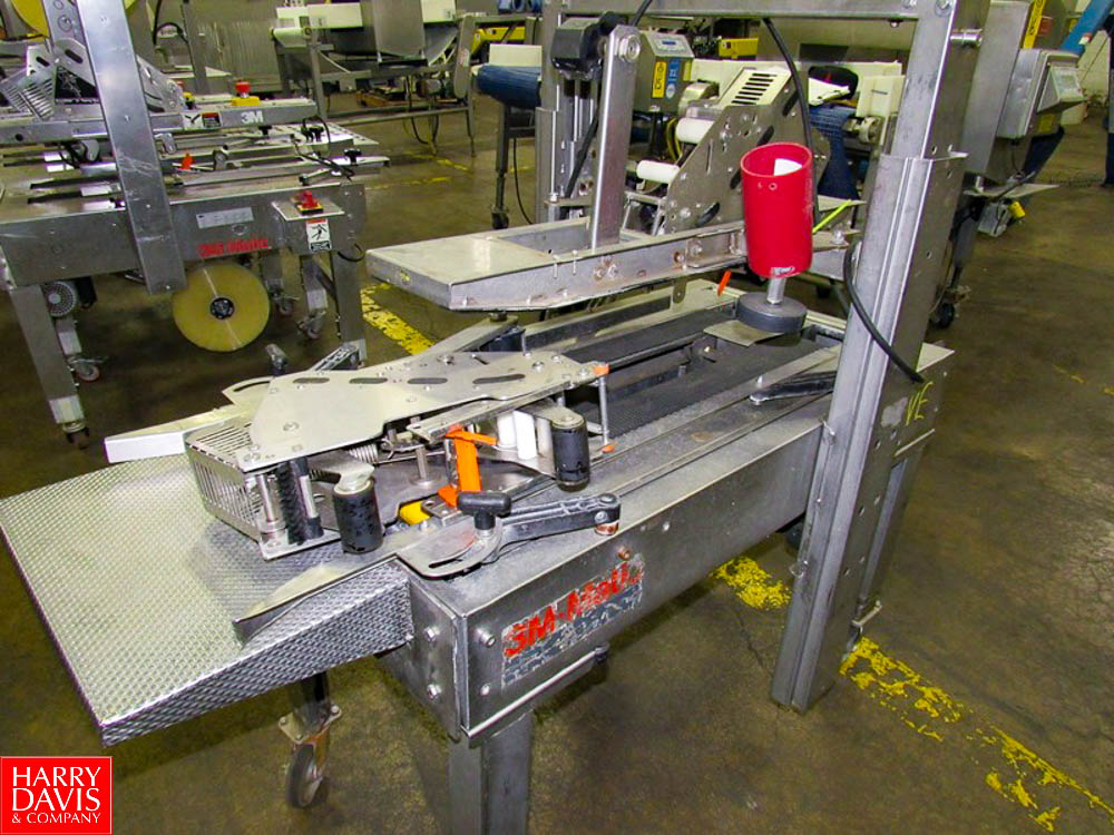3M Mdl. A20S Stainless Steel Portable Case Sealer, top & bottom tapers, Ser. #2110 Rigging Fee: $ - Image 3 of 3