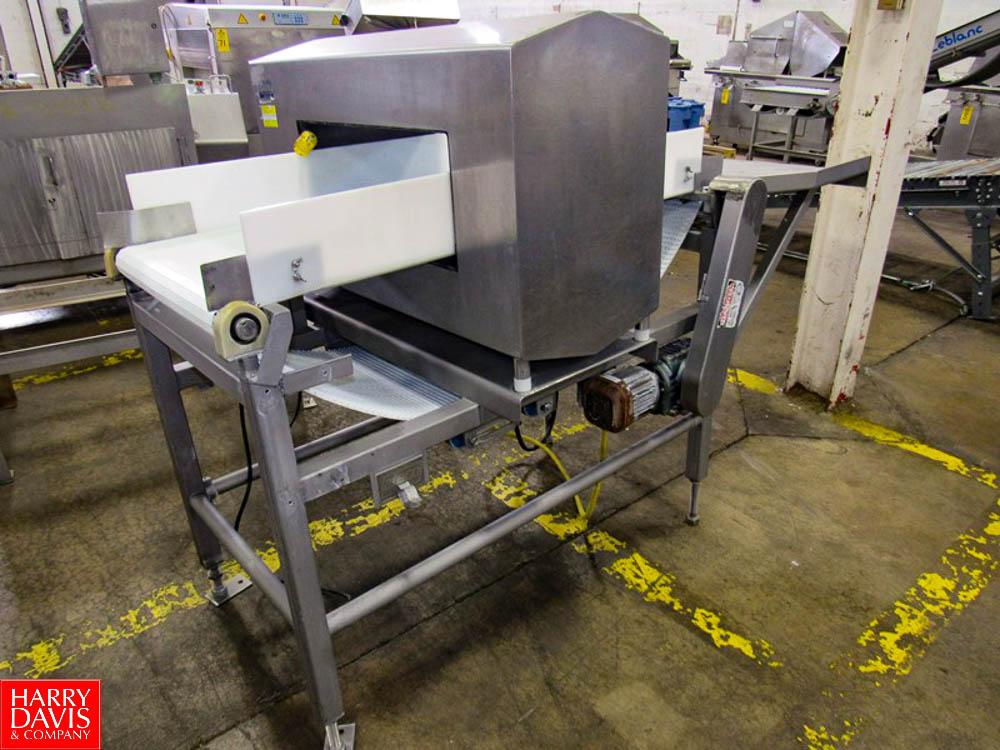 "Goring Kerr Metal Detector, 23 3/4"" W X 9 3/4"" H aperture, 22"" W X 54"" L plastic belt conveyor, - Image 4 of 5"