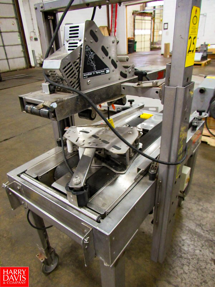 3M Mdl. A20S S/S Portable Case Sealer, Top and Bottom Tapers Rigging Fee: $ 100 - Image 2 of 3