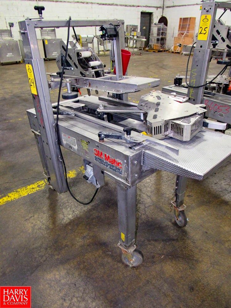 3M Mdl. A20S Stainless Steel Portable Case Sealer, top & bottom tapers, Ser. #2110 Rigging Fee: $ - Image 2 of 3
