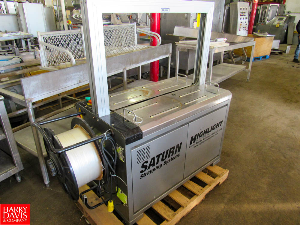 Saturn Strapping Systems Mdl. SA-330 Arch Style Plastic Strapping Machine Rigging Fee: $ 50 - Image 2 of 6