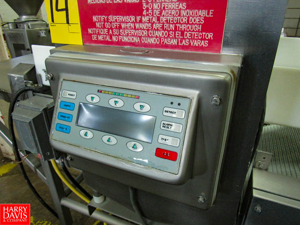 "Goring Kerr Metal Detector, 23 3/4"" W X 9 3/4"" H aperture, 22"" W X 54"" L plastic belt conveyor, - Image 5 of 5"