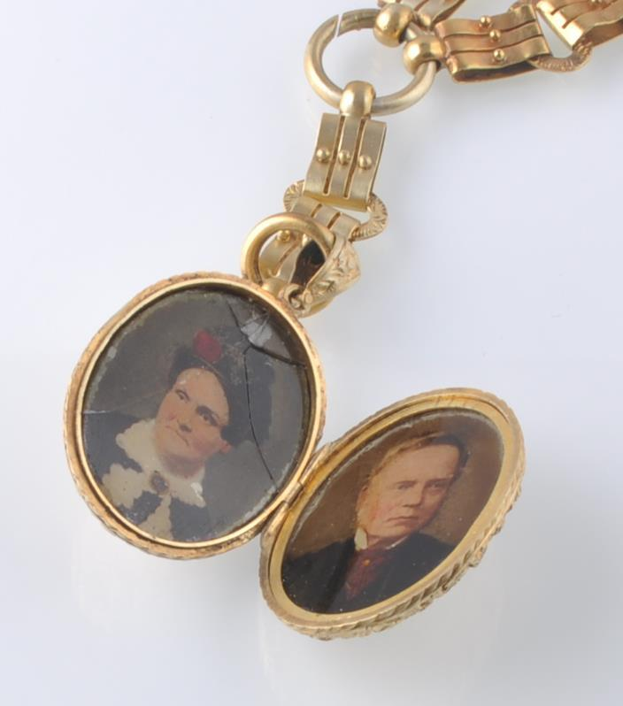A 19TH CENTURY VICTORIAN PENDANT LOCKET ON CHAIN - Image 9 of 9