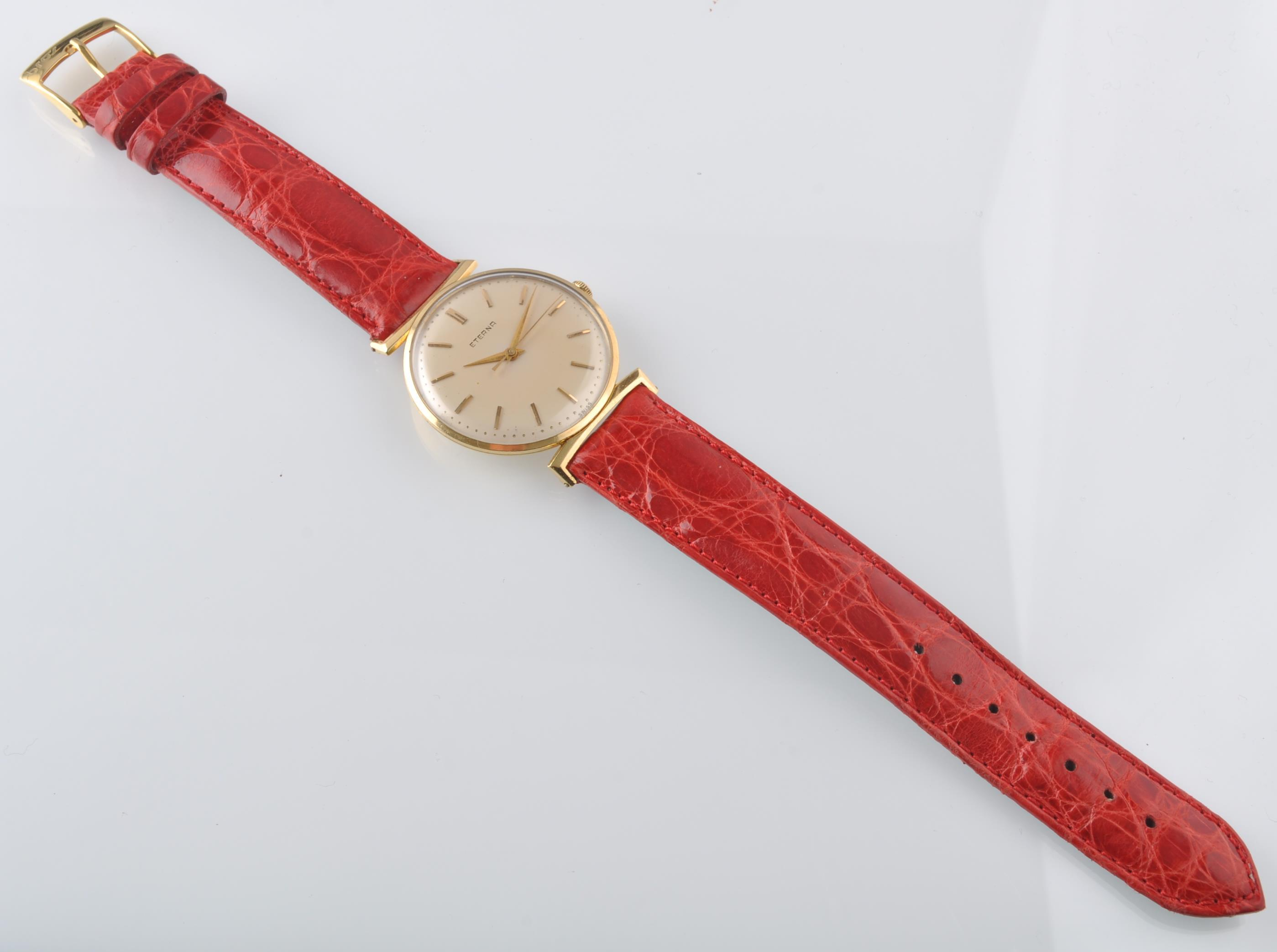 ETERNA 18CT GOLD 1950'S VINTAGE WRIST WATCH - Image 9 of 9