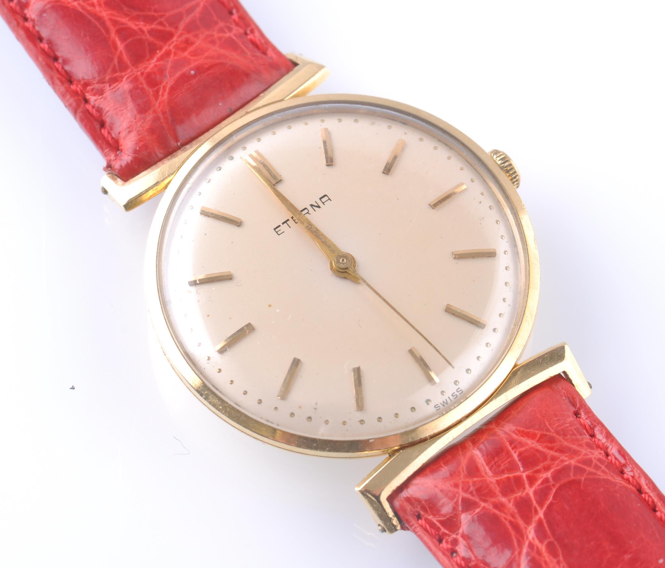 ETERNA 18CT GOLD 1950'S VINTAGE WRIST WATCH - Image 2 of 9