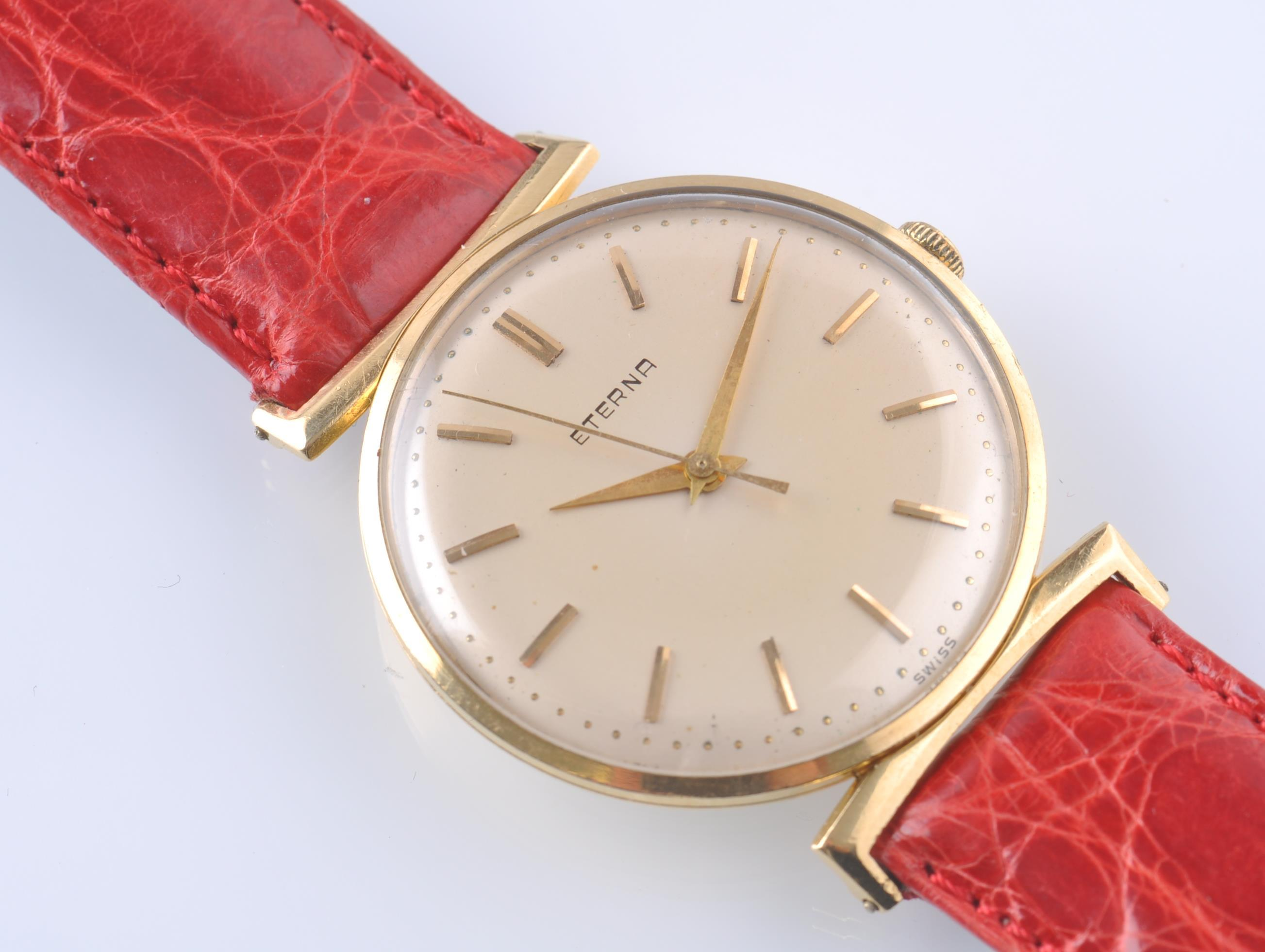 ETERNA 18CT GOLD 1950'S VINTAGE WRIST WATCH