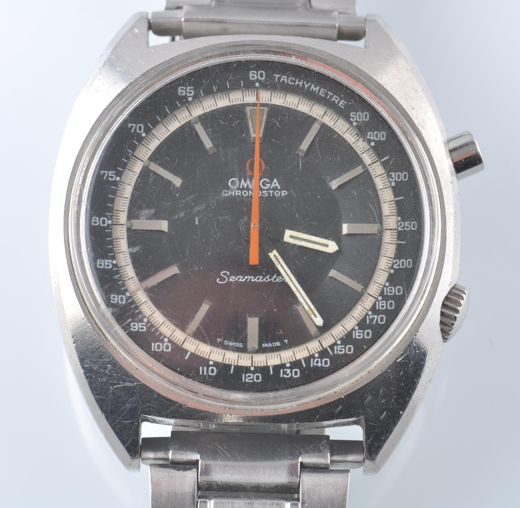 OMEGA SEAMASTER CHRONOSTOP BLACK FACED DIAL - Image 3 of 5