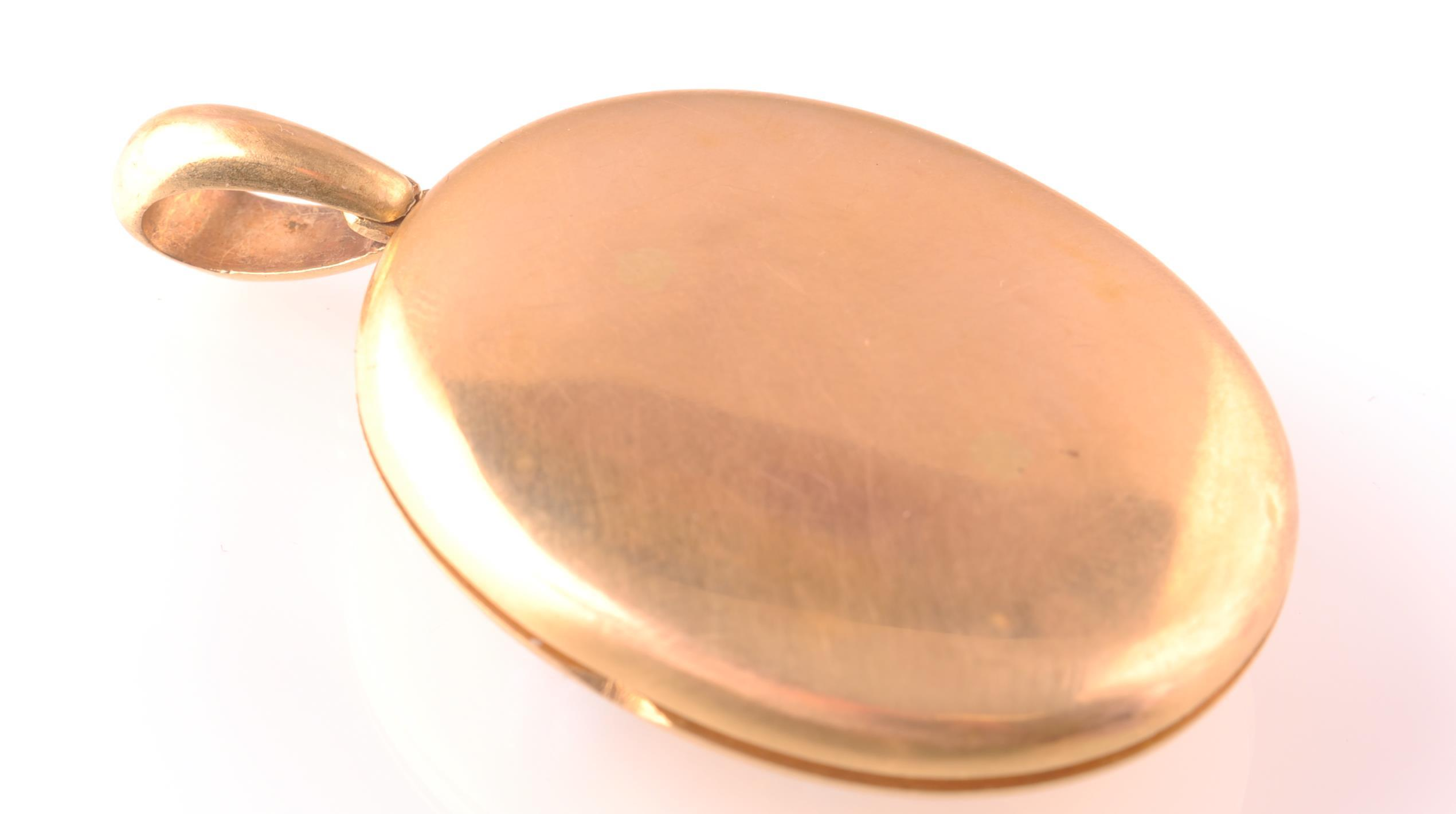 AN 18CT GOLD VICTORIAN TURQUOISE & DIAMOND LOCKET - Image 4 of 5