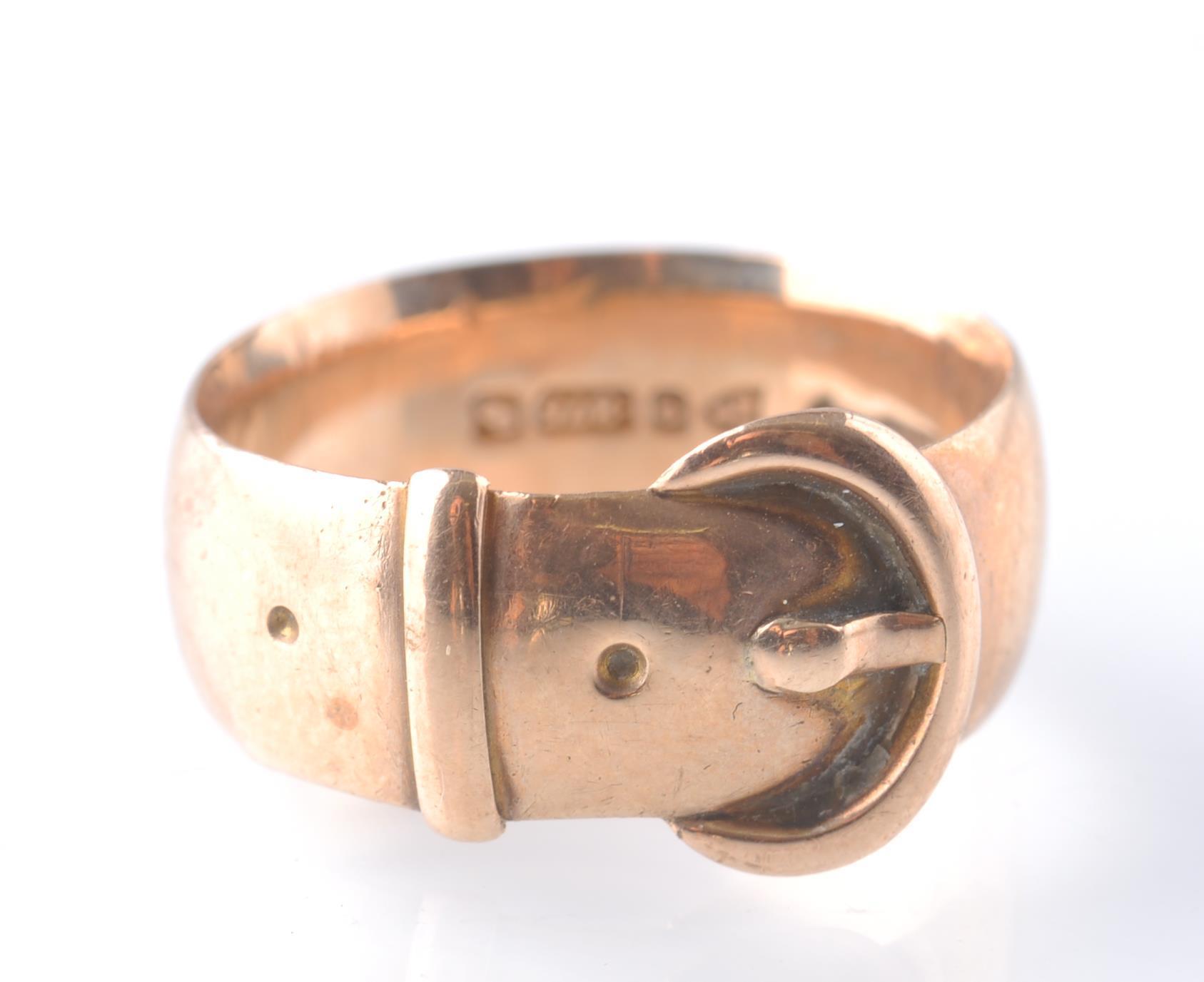 EDWARDIAN 1909 18CT GOLD CHESTER HALLMARKED BUCKLE