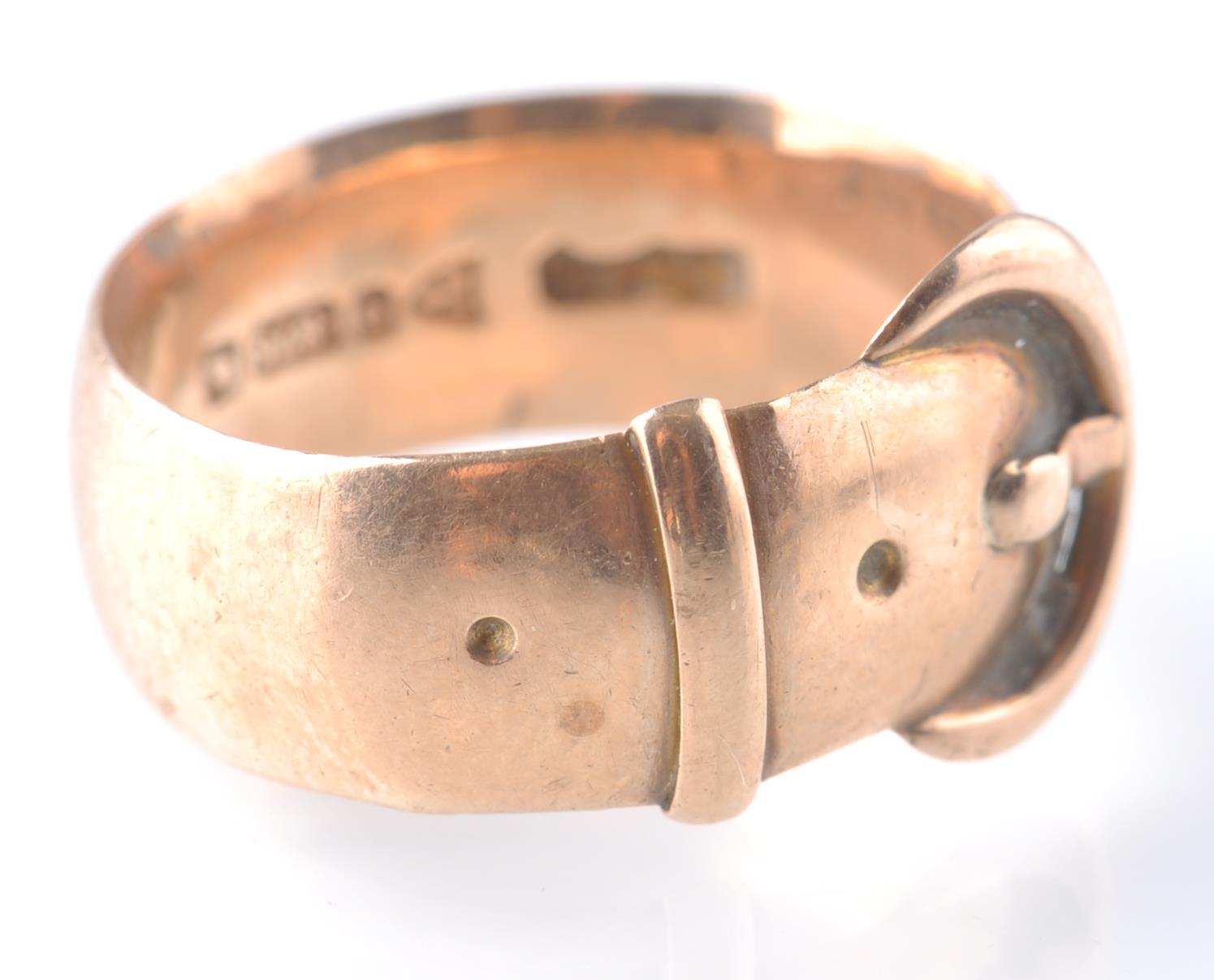 EDWARDIAN 1909 18CT GOLD CHESTER HALLMARKED BUCKLE - Image 2 of 4