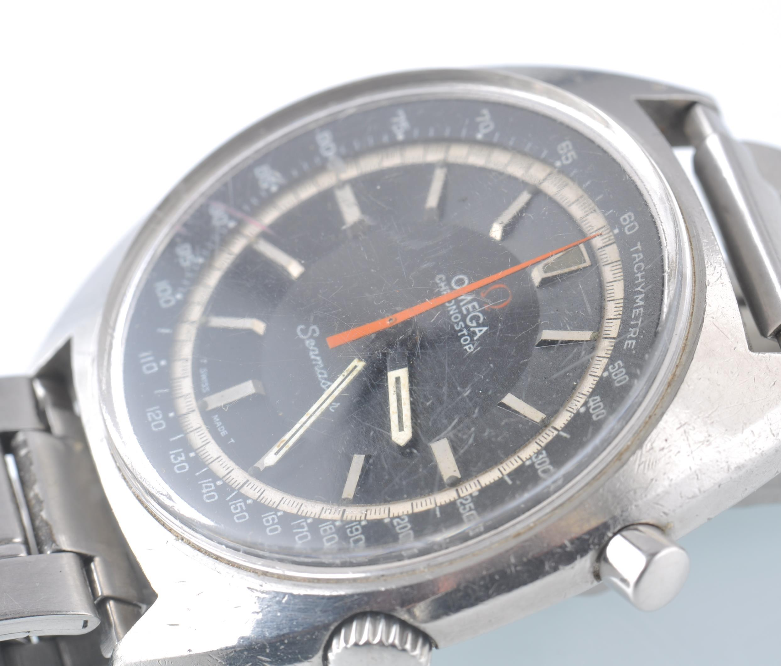 OMEGA SEAMASTER CHRONOSTOP BLACK FACED DIAL