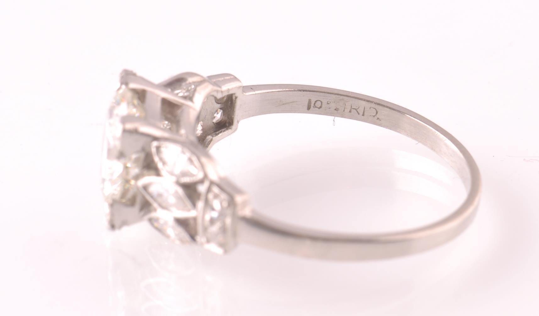 ART DECO PLATINUM AND DIAMOND SOLITAIRE 2CT RING - Image 4 of 5