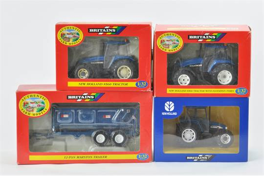 Britains Farm Tractor selection includng scarce Turkish New Holland