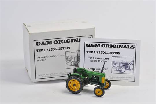 G&M Originals 1/32 Scale Turner Yeoman Diesel Tractor  Limited