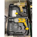 "Lot of DeWalt Model DWD520 1/2"""" Electric VSR Drill"