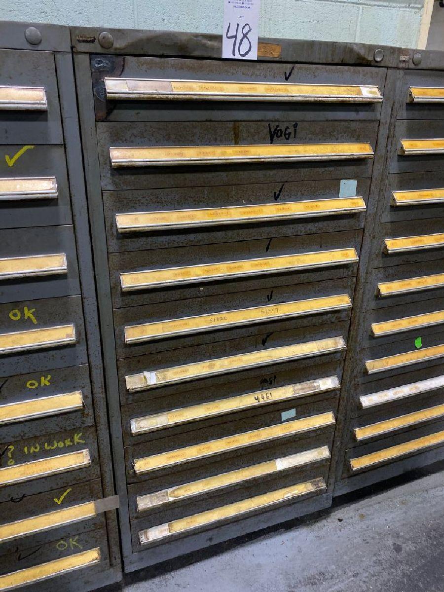 """Vidmar 59"""""""" Ball Bearing Tool Cabinet"""