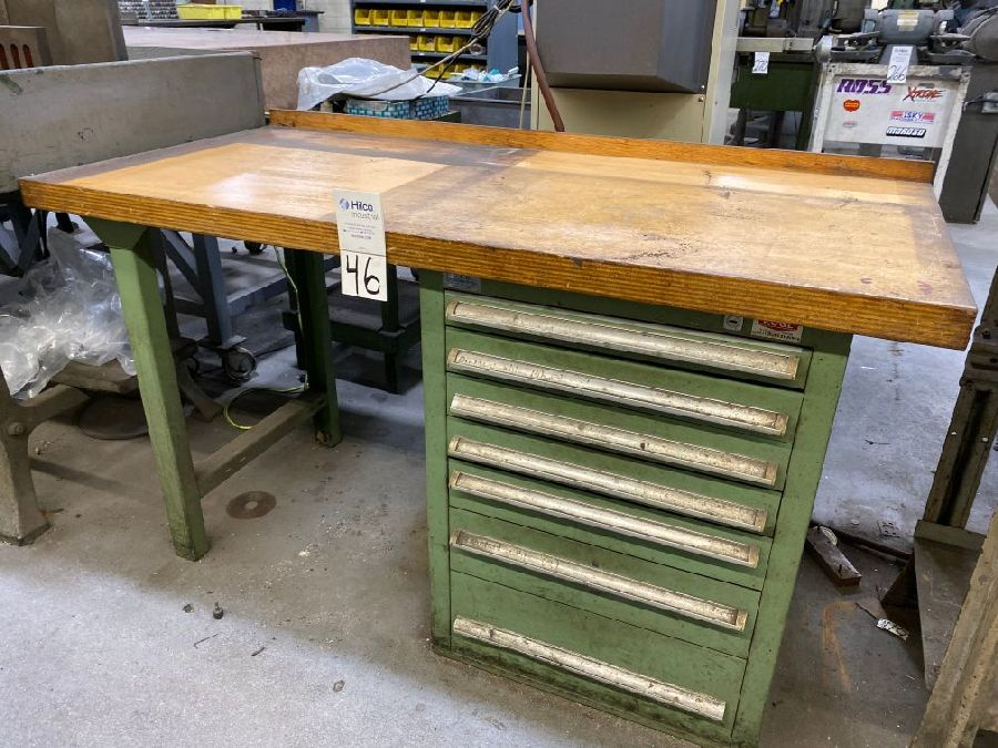 "G&H 30"""" x 60"""" Wood Top Work Bench"