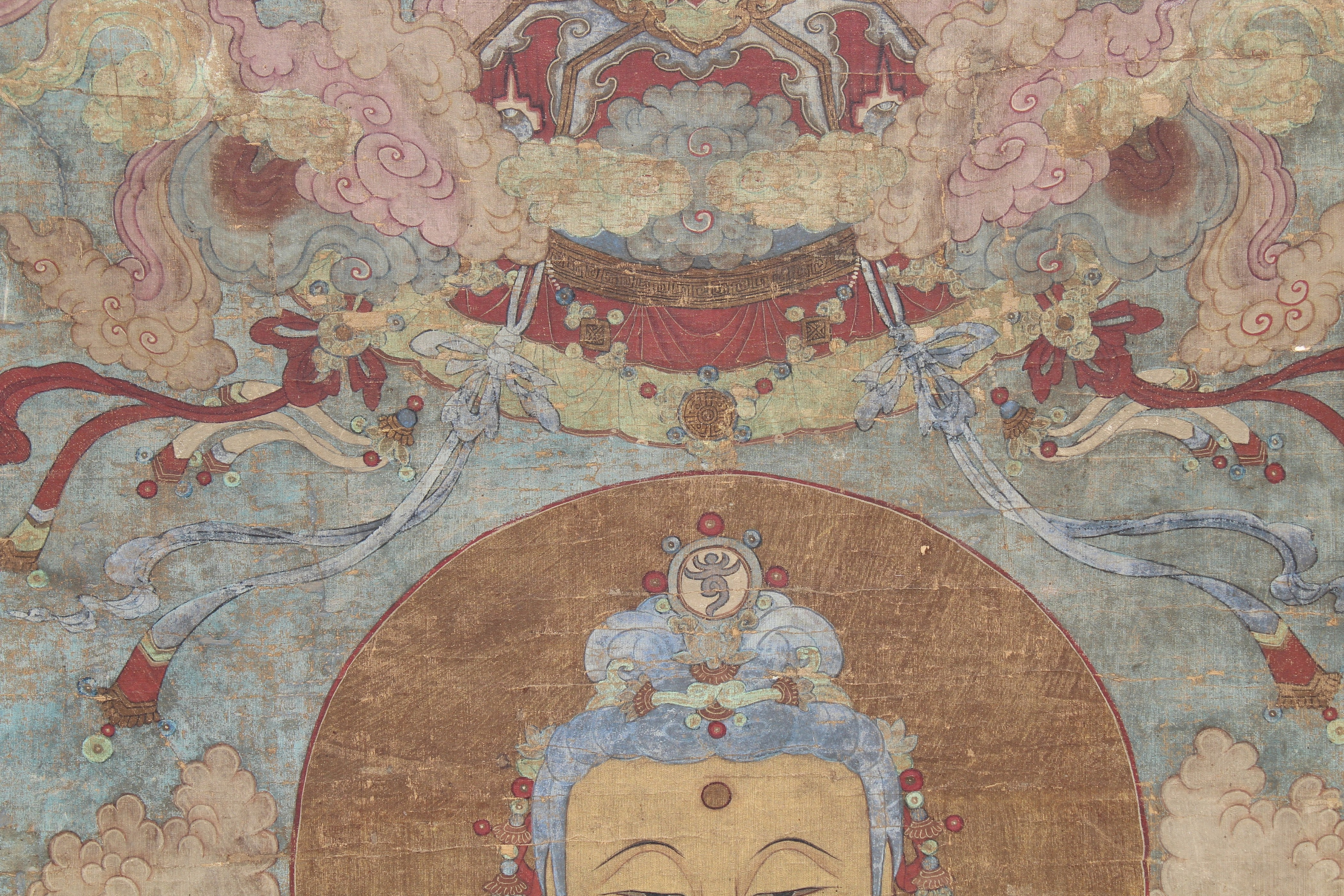 Lot 51 - Monumental 18th C. Tibetan Thangka