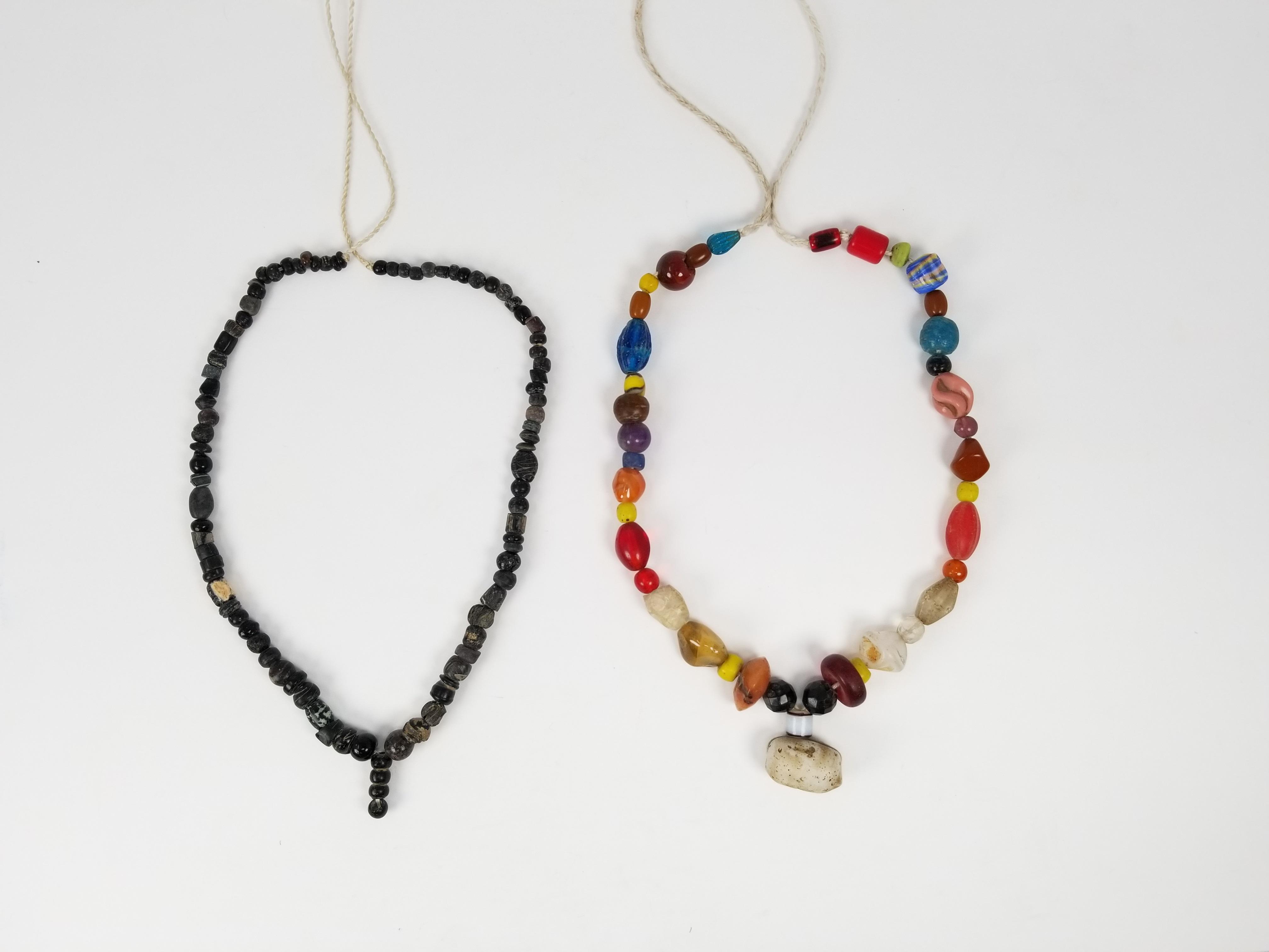 Lot 134c - (2) Assorted Ancient Roman, Indus Valley Necklaces