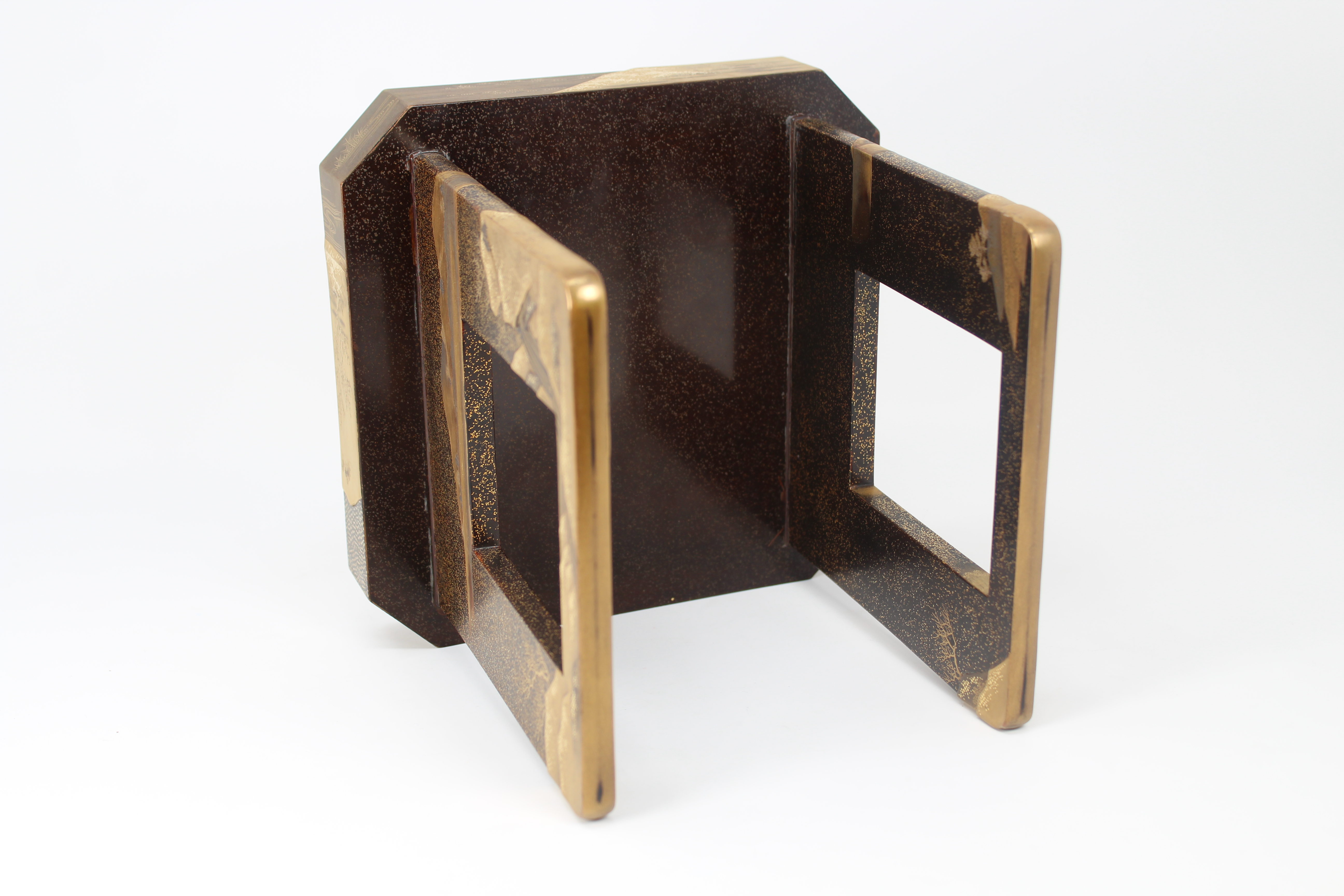 Lot 55 - Antique Japanese Lacquer Sake Cup Tray Stand