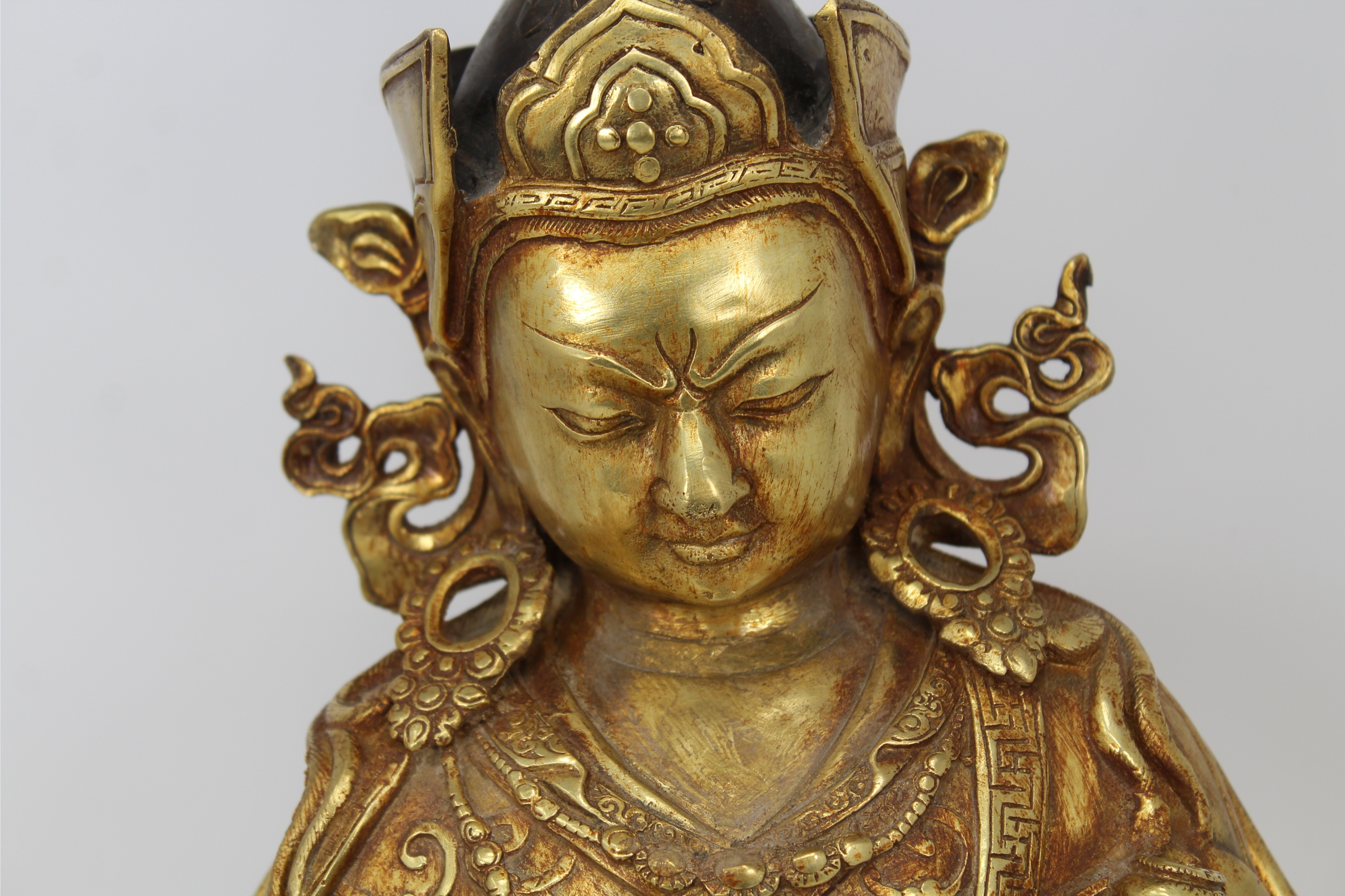 Lot 29 - Large Gilt Bronze Tibetan Buddha, Yongle Mark