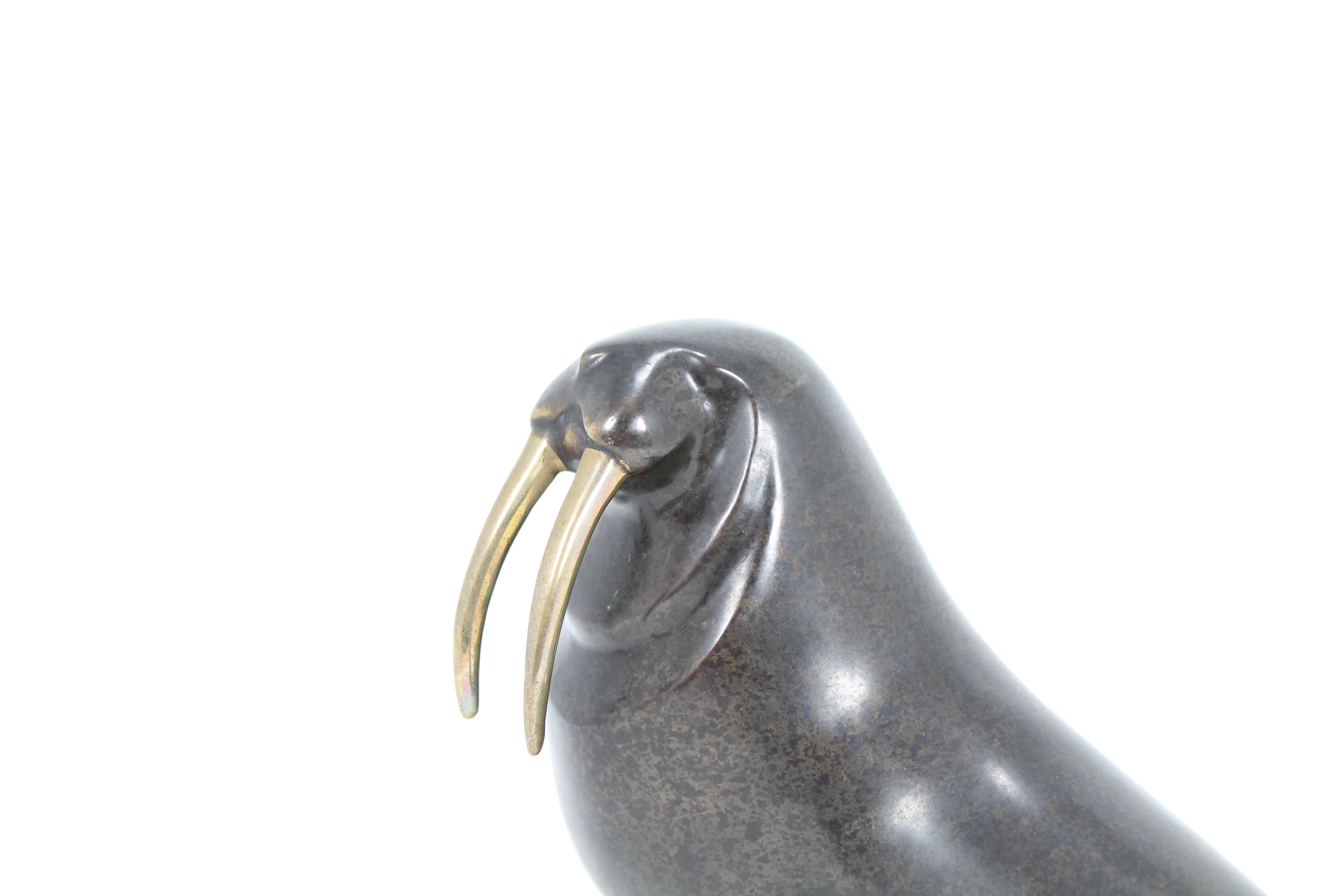 Lot 3 - Loet Vanderveen (1921 - 2015) Walrus Bronze
