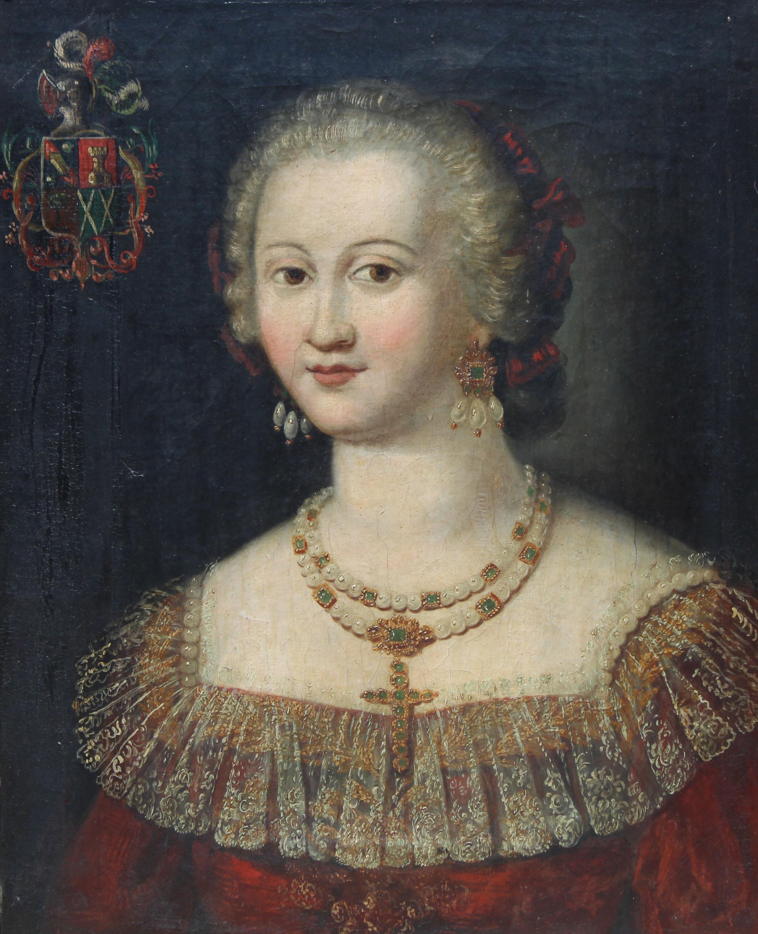 Lot 20 - 17th C. Spanish School Portrait of a Woman