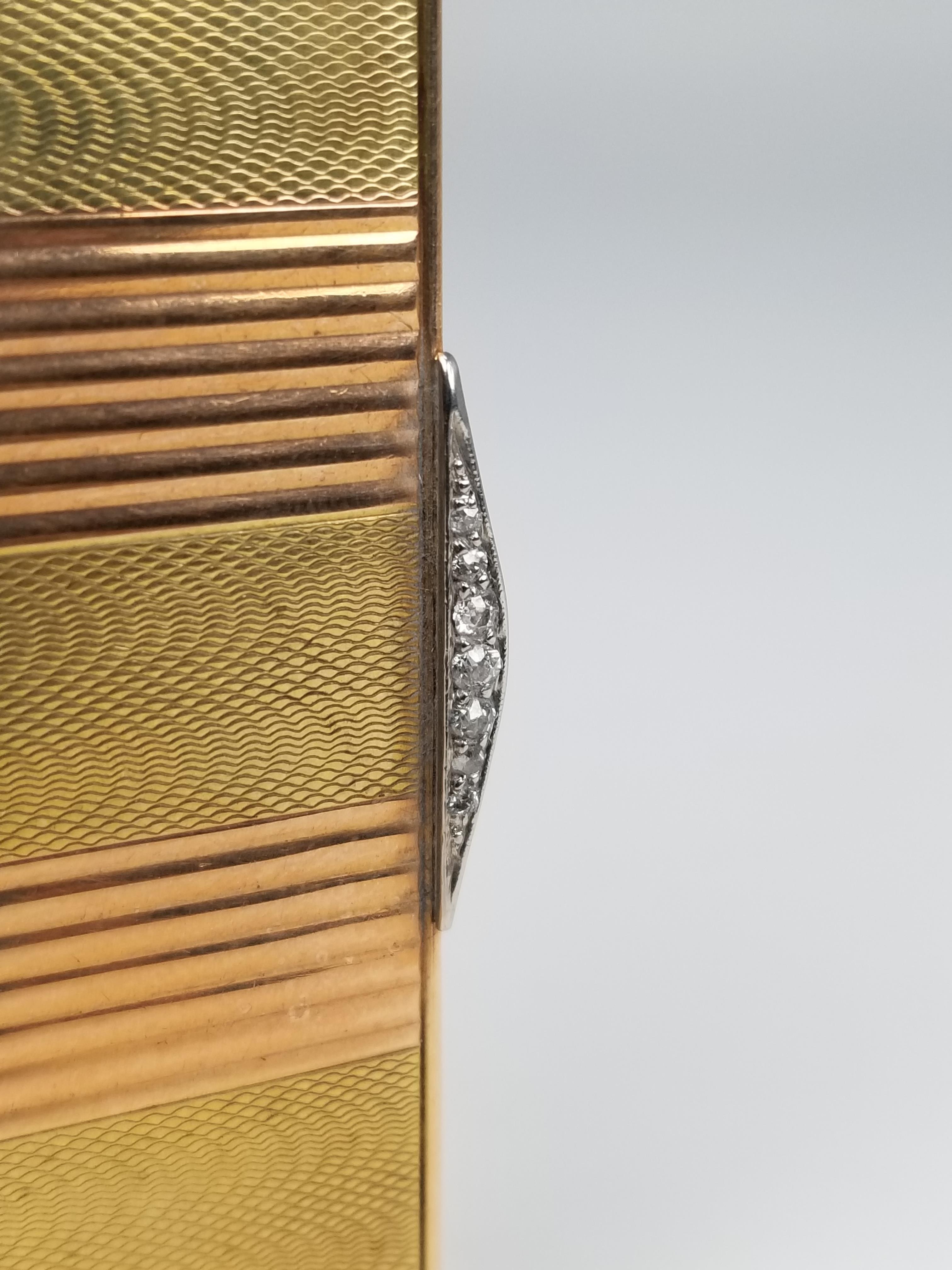 Lot 36 - Art Deco 14k Gold Charlton & Co. Cigarette Case