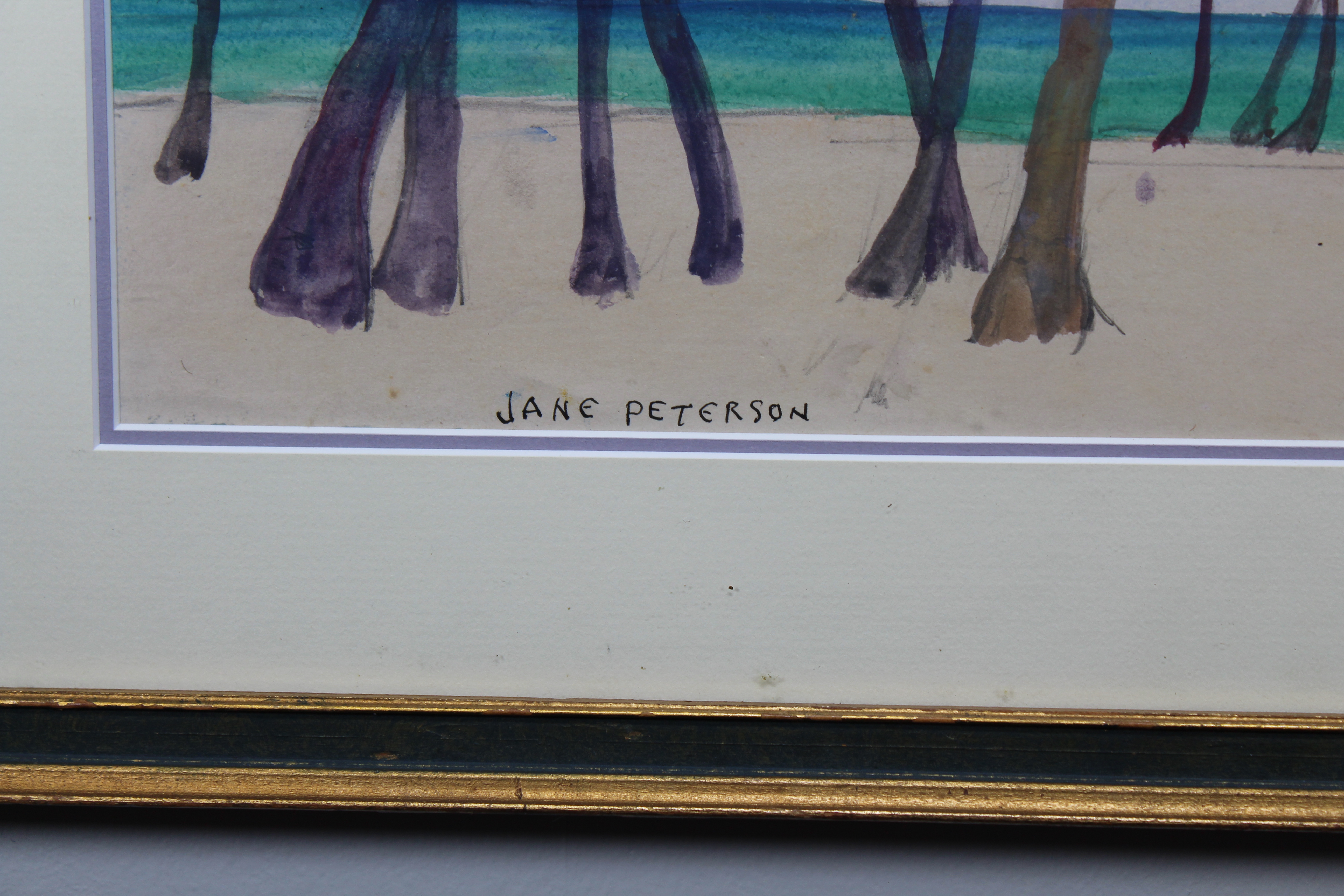 "Lot 63 - Jane Peterson (1876 - 1965) ""Palms on the Beach"""