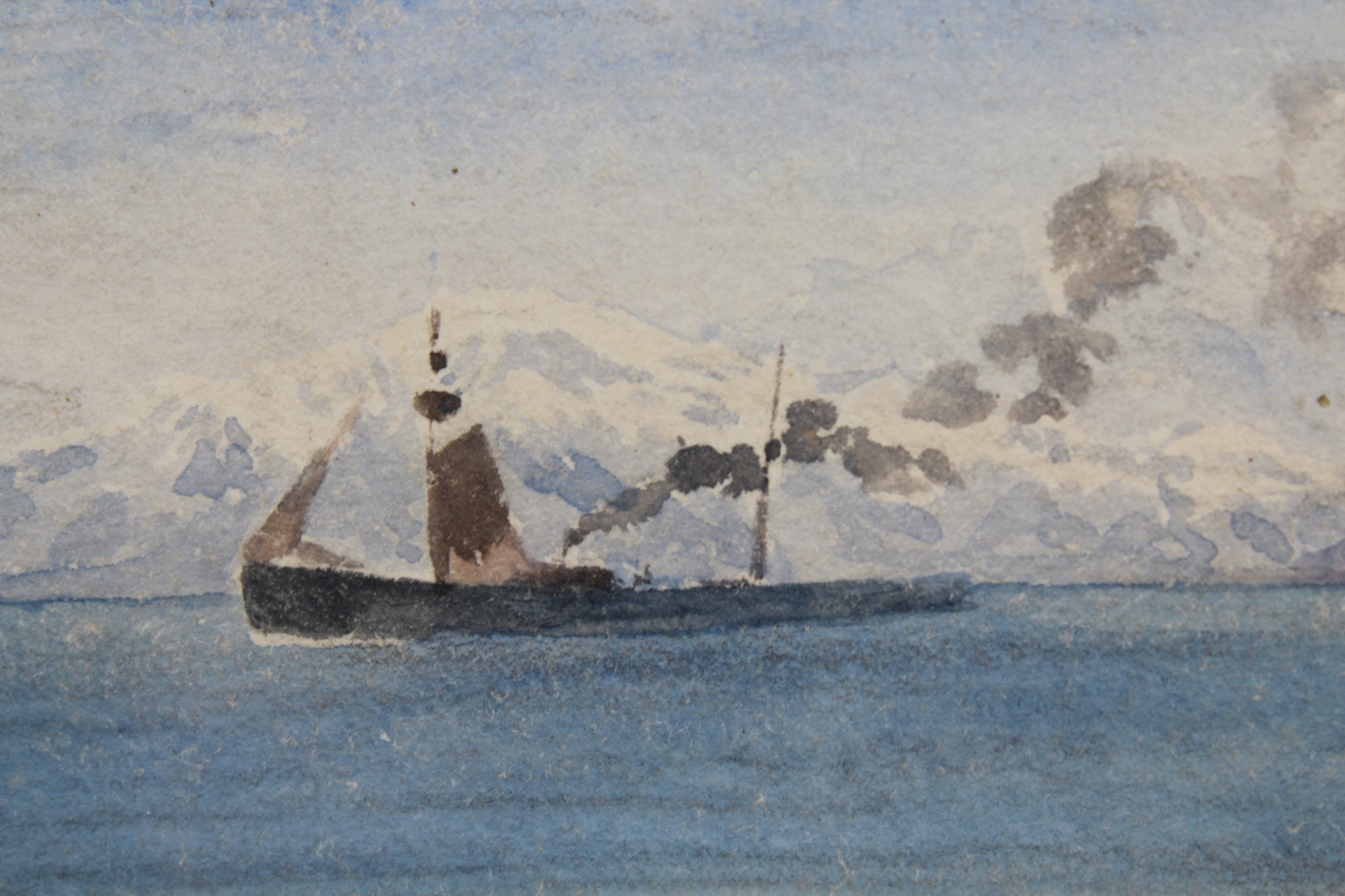 Lot 133 - (2) 20th C. Nautical Watercolor Paintings
